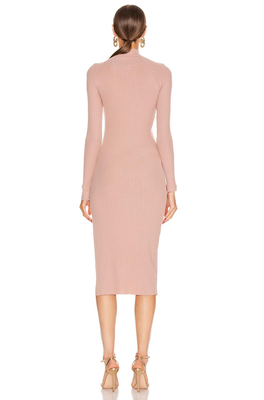 Image 4 of Enza Costa Brushed Rib Long Sleeve Raglan Midi Dress in Plastic Pink