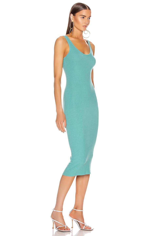 Image 2 of Enza Costa Silk Rib Tank Midi Dress in Quiet Wave