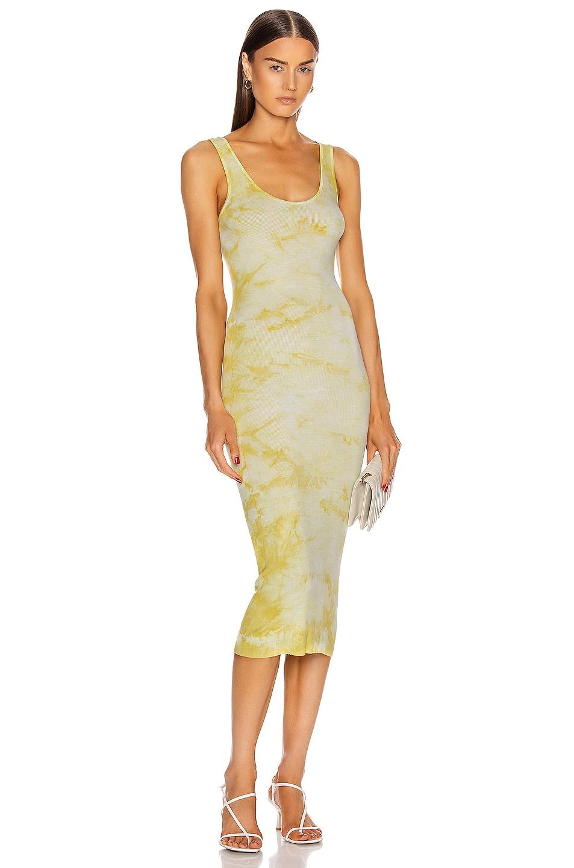 Image 1 of Enza Costa Silk Rib Tank Midi Dress in Lime Ionic