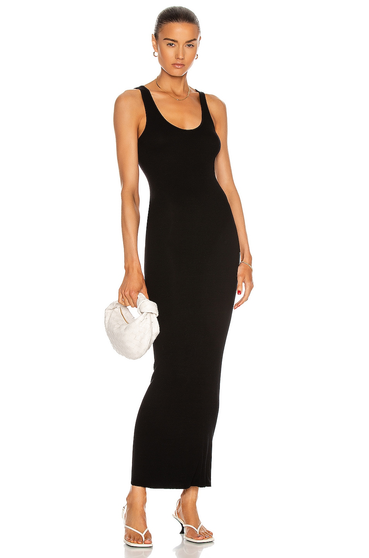 Image 1 of Enza Costa Silk Rib Ankle Length Tank Dress in Black