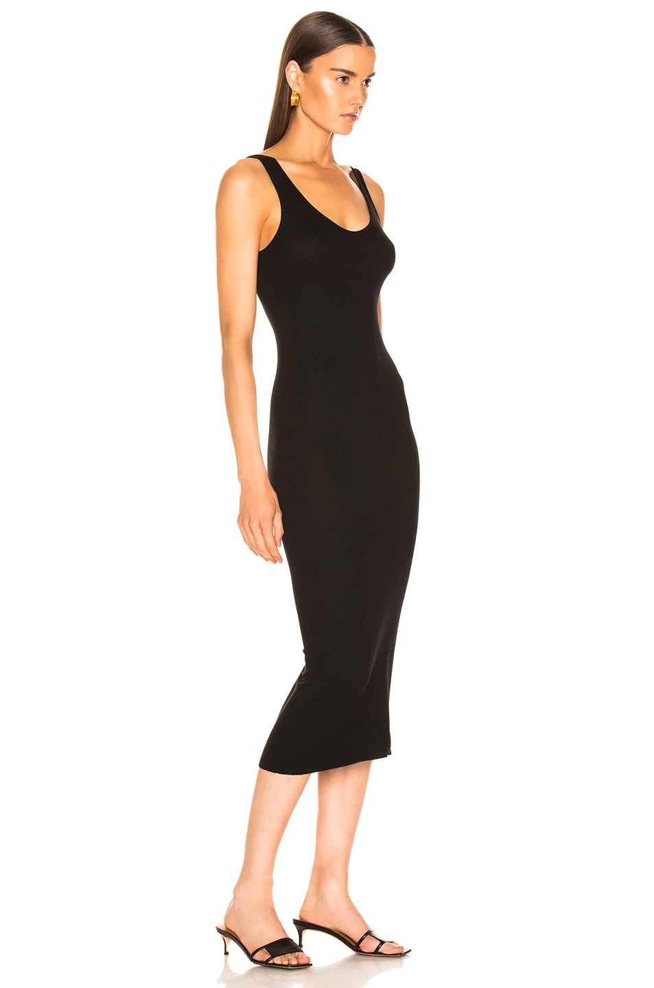Image 2 of Enza Costa Rib Tank Viscose-Blend Dress in Black