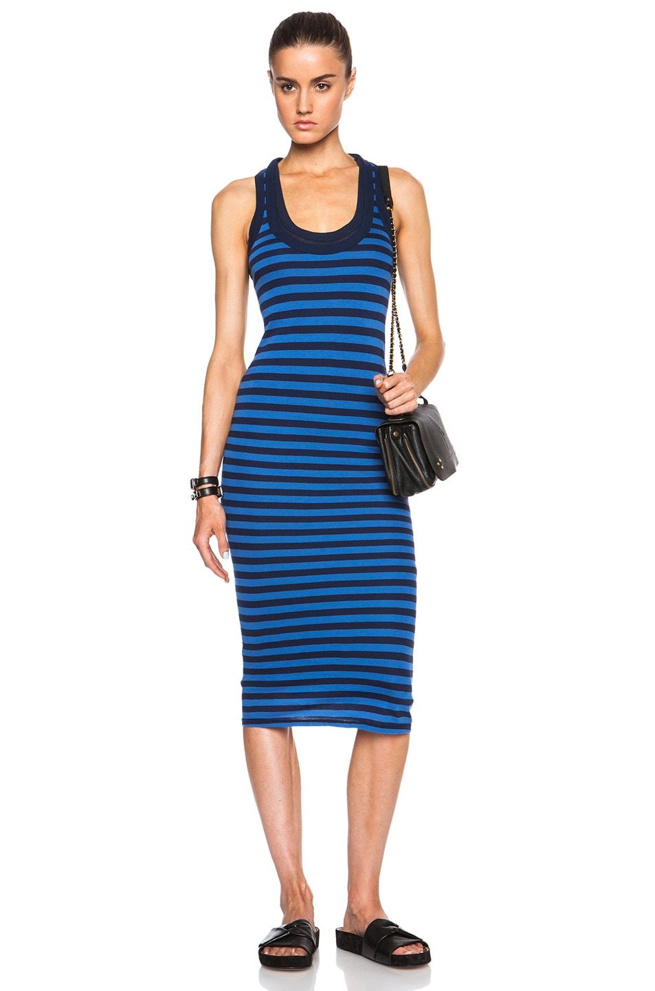 Image 1 of Enza Costa Doubled Tank Dress in Atlantic & Royal