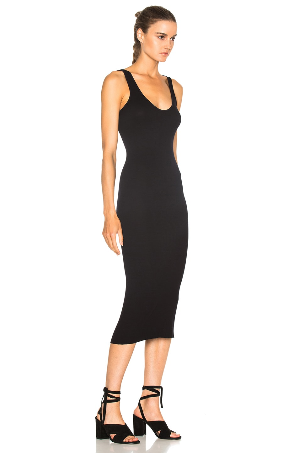 Image 3 of Enza Costa Rib Tank Dress in Nuit