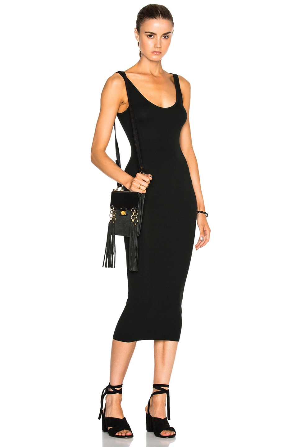 Image 1 of Enza Costa Rib Tank Dress in Deep Forest