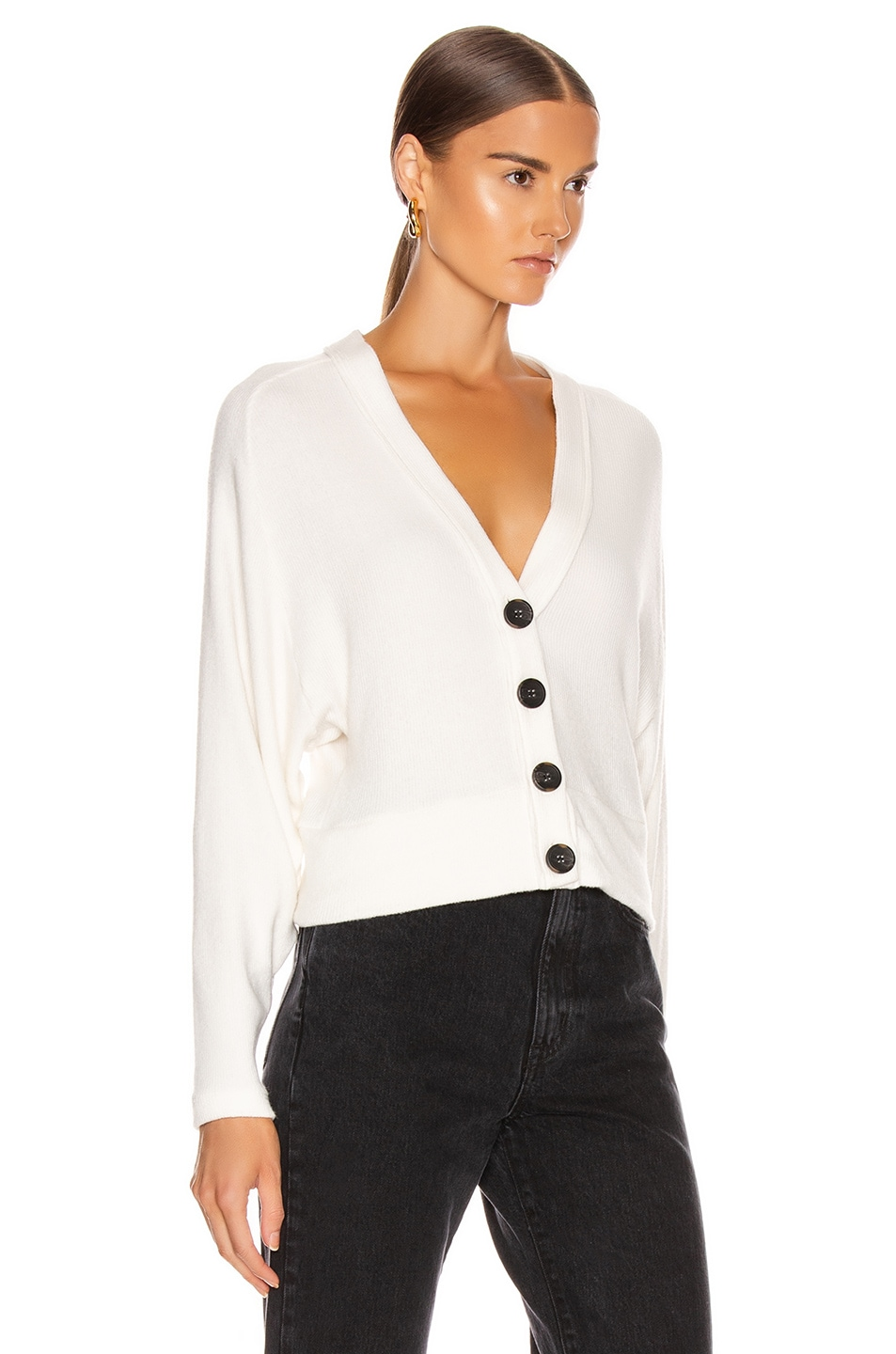 Image 2 of Enza Costa Sweater Knit Dropped Cardigan in Winter White
