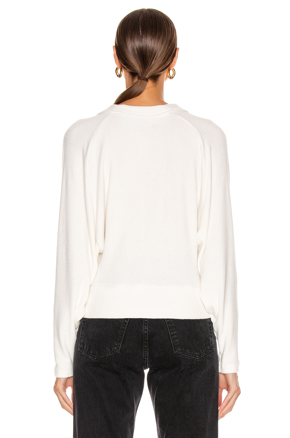 Image 3 of Enza Costa Sweater Knit Dropped Cardigan in Winter White