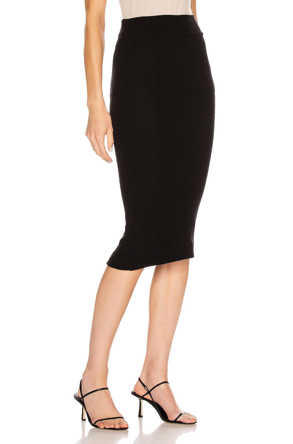 Image 2 of Enza Costa Sweater Knit Midi Skirt in Black