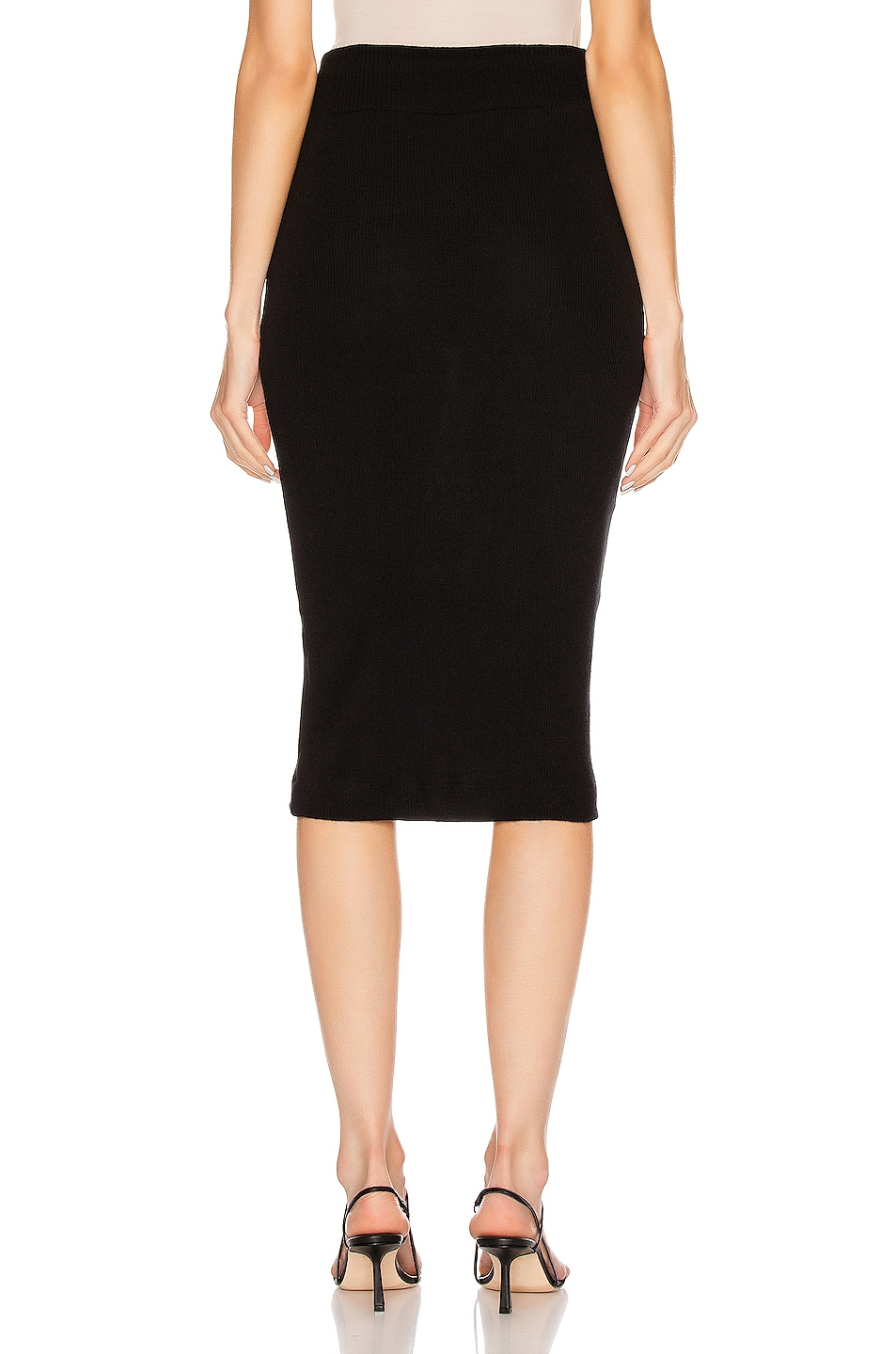 Image 3 of Enza Costa Sweater Knit Midi Skirt in Black