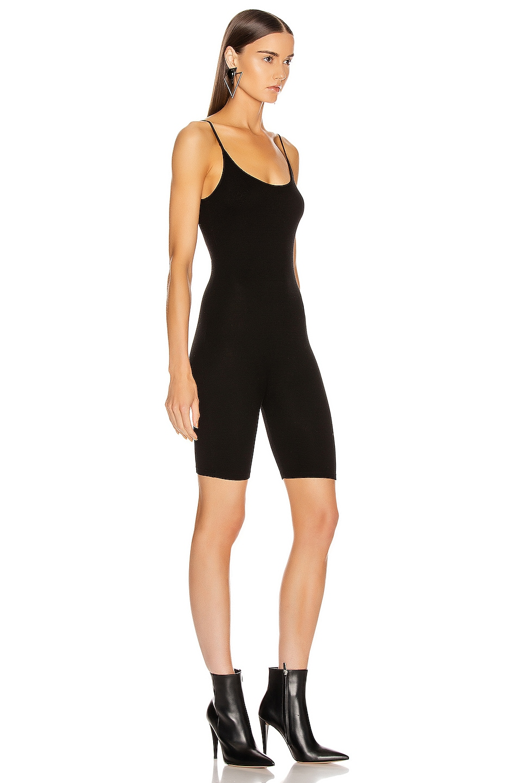 Image 2 of Enza Costa Rib Uni Short Romper in Black