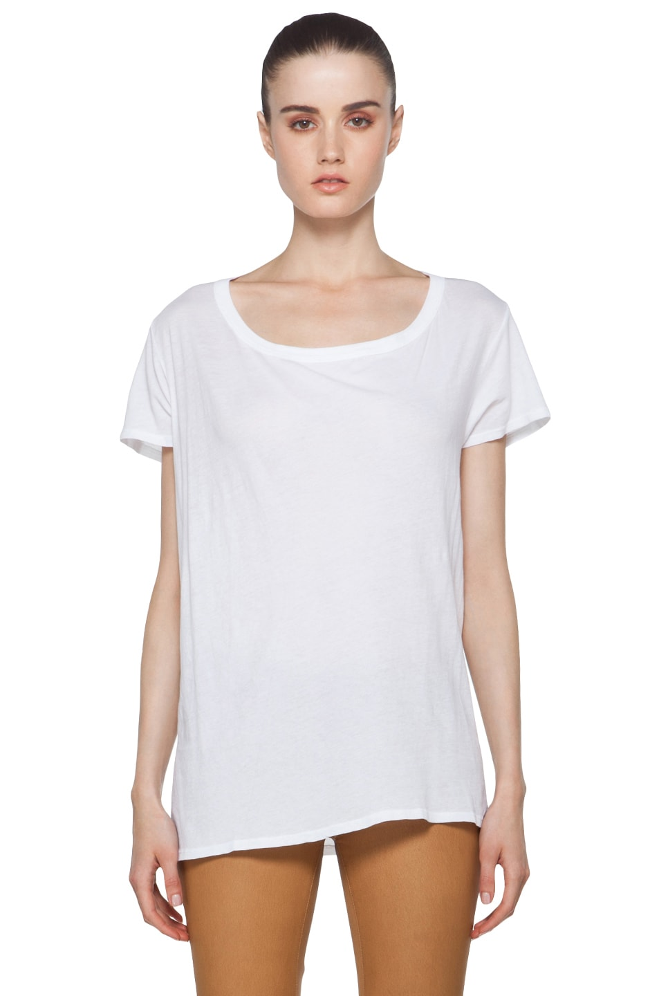Image 2 of Enza Costa Off The Shoulder Tee in White