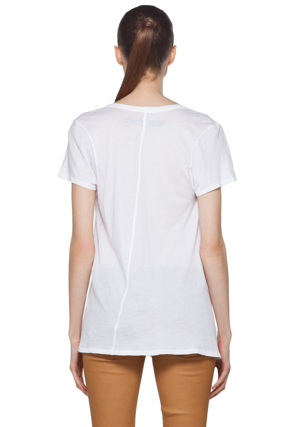 Image 5 of Enza Costa Off The Shoulder Tee in White
