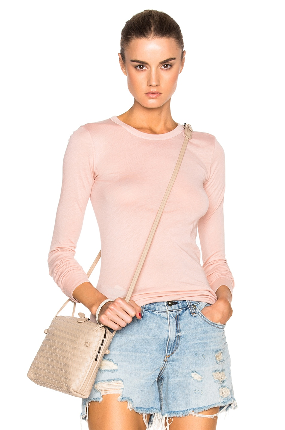 Image 1 of Enza Costa Rib Long Sleeve Tee in Nirvana