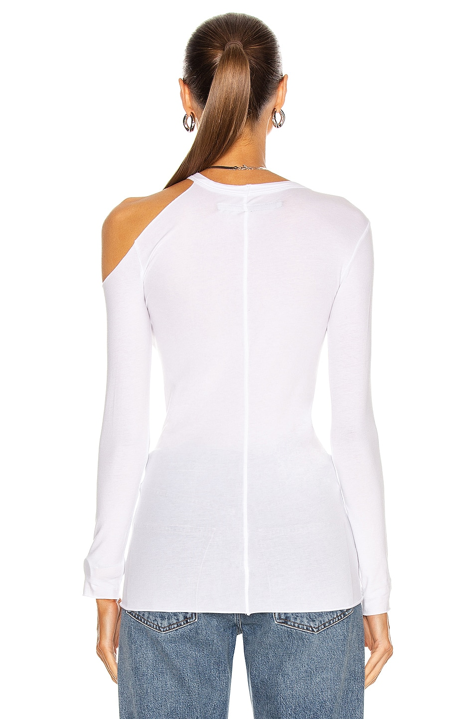 Image 4 of Enza Costa Exposed Shoulder Top in White
