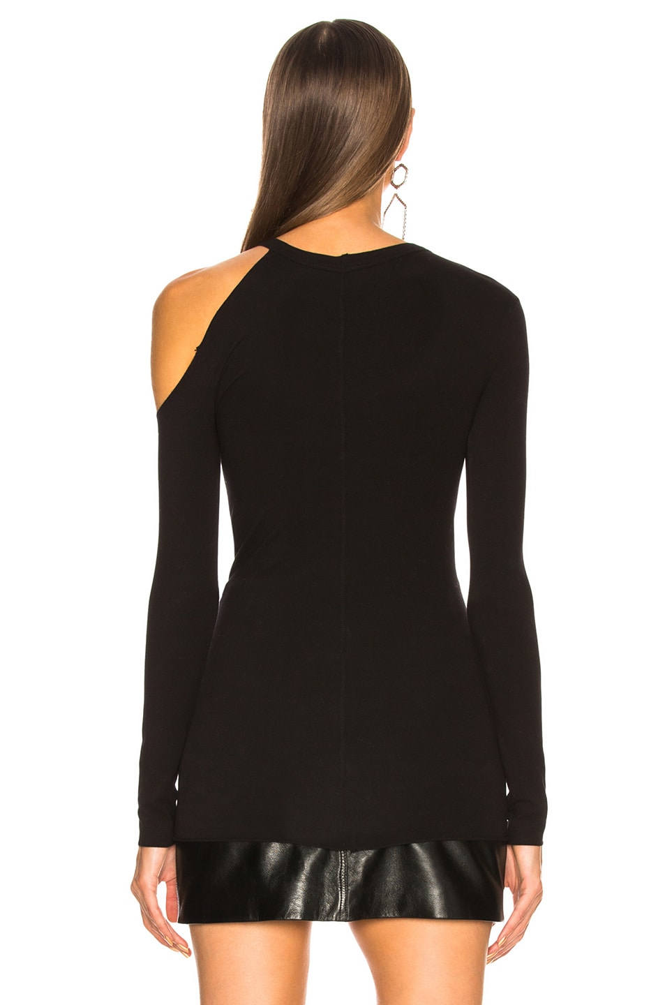 Image 5 of Enza Costa for FWRD Exposed Shoulder Top in Black