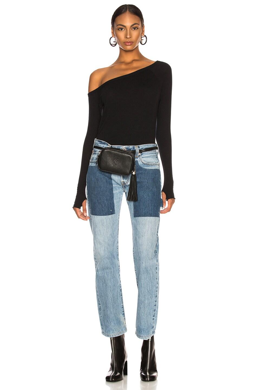 Image 6 of Enza Costa Cashmere Off Shoulder Long Sleeve in Black