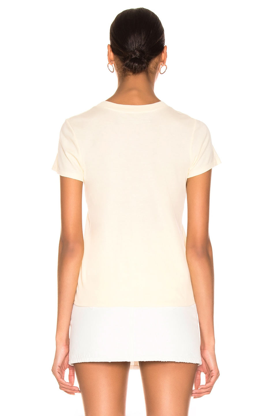 Image 3 of Enza Costa Classic Short Sleeve Tee in Pale Yellow