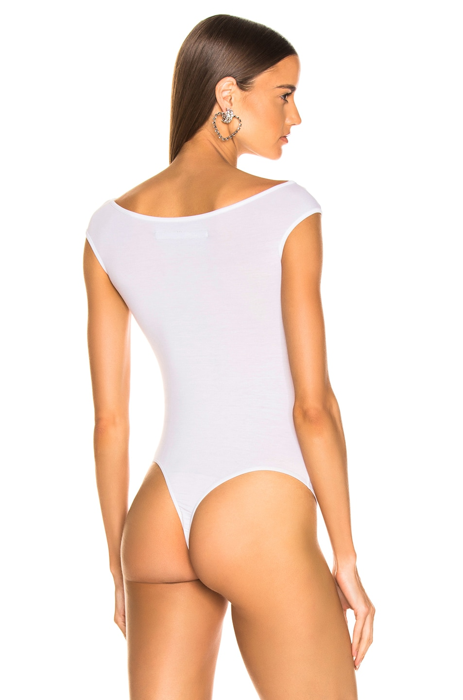 Image 4 of Enza Costa Off The Shoulder Bodysuit in White