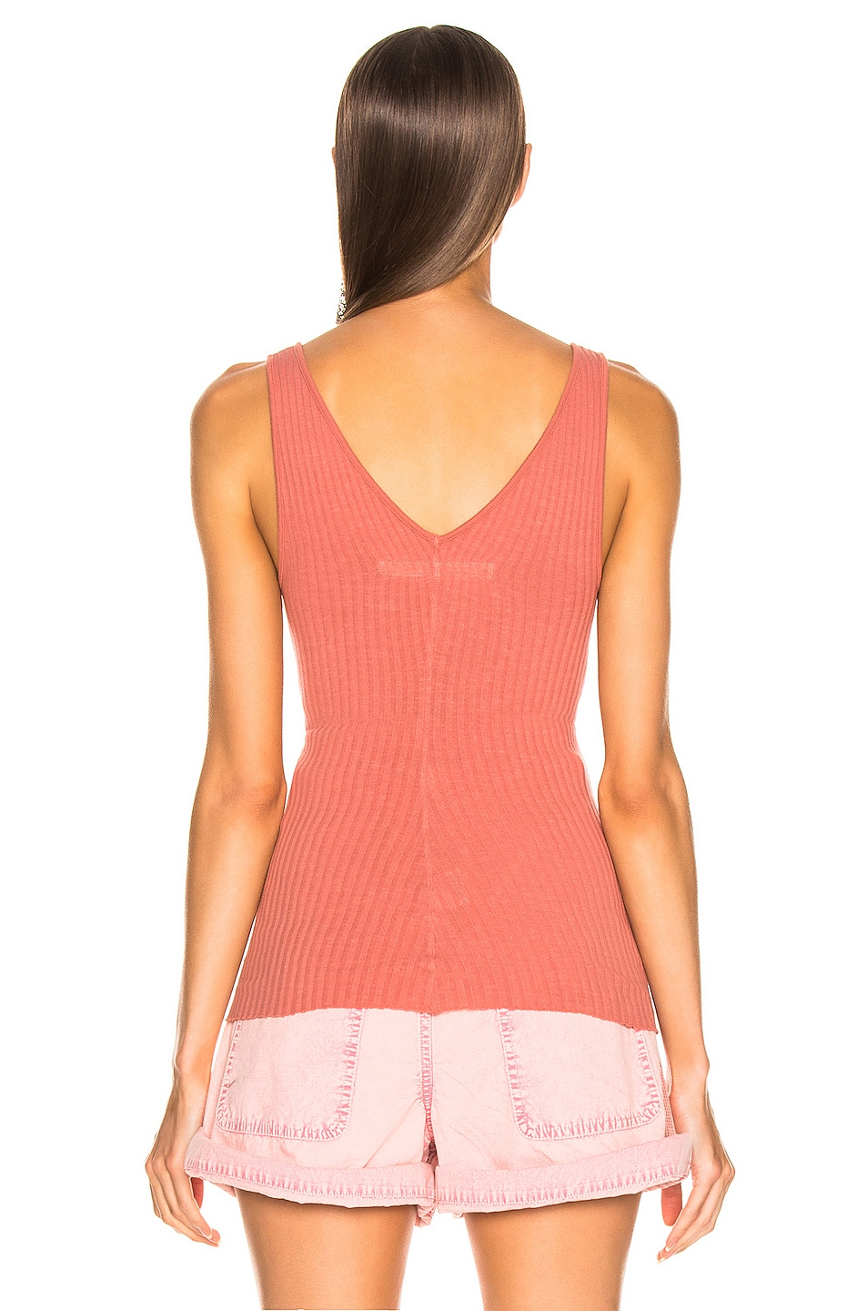 Image 3 of Enza Costa U Neck Tank in Pink Sand