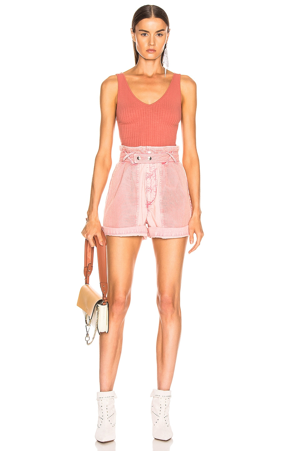 Image 4 of Enza Costa U Neck Tank in Pink Sand