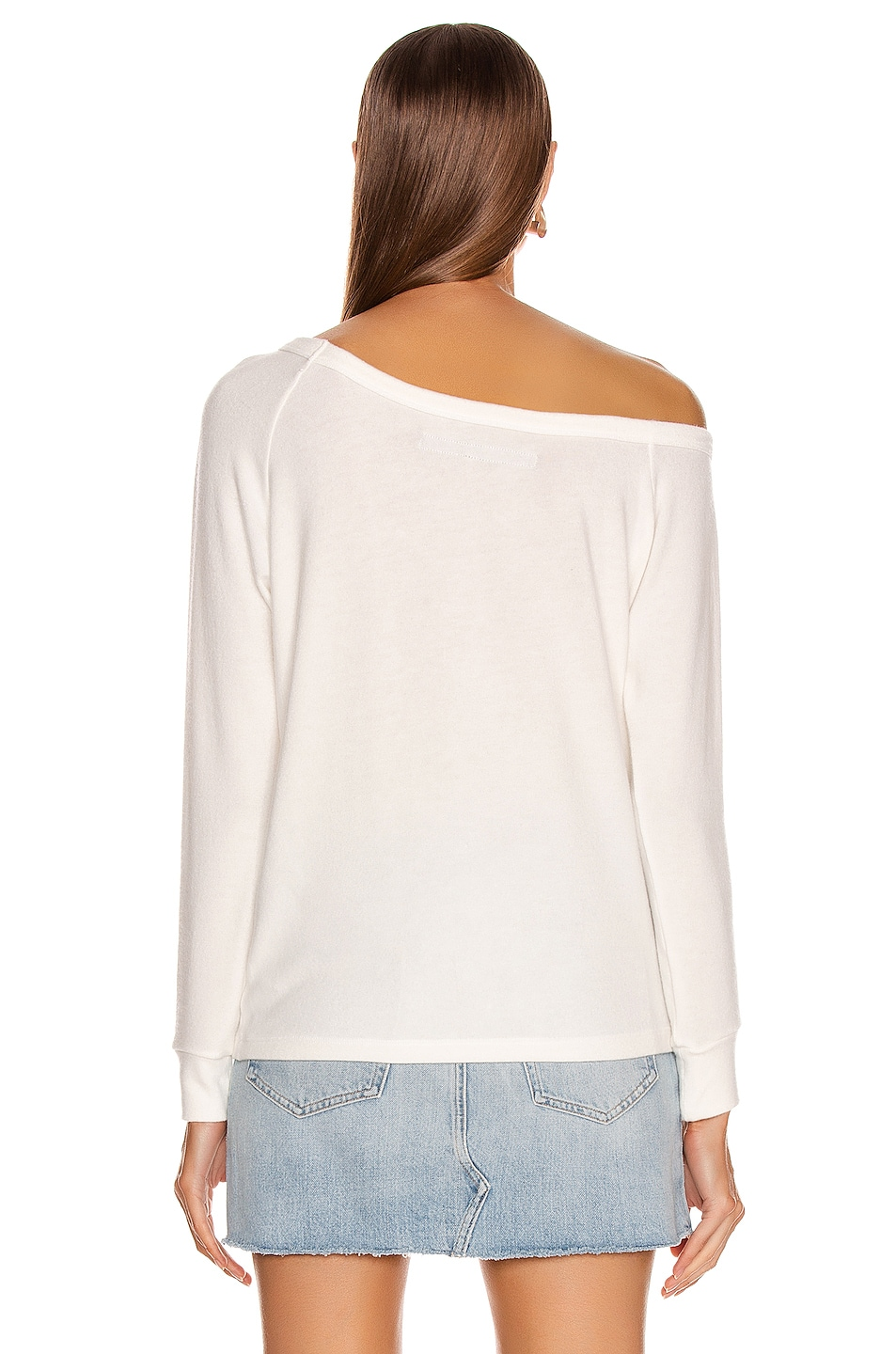 Image 3 of Enza Costa for FWRD Easy Off Shoulder Long Sleeve in White