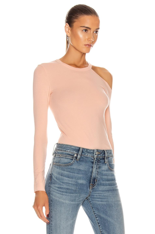 Image 2 of Enza Costa for FWRD Exposed Shoulder Top in Peach Cream
