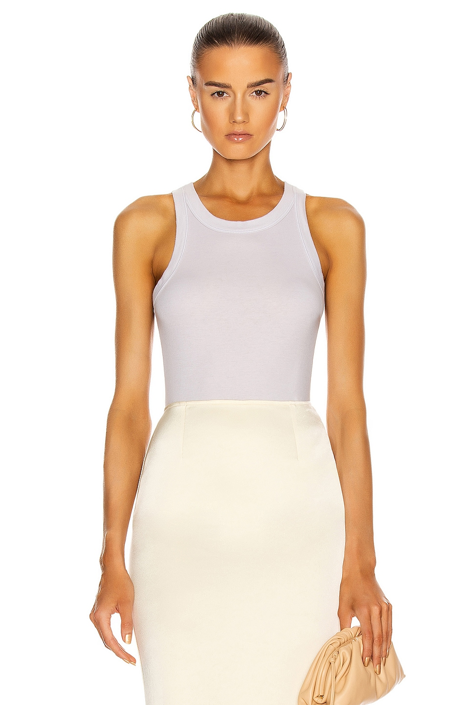 Image 1 of Enza Costa for FWRD Supima Bold Sheath Tank in Ash