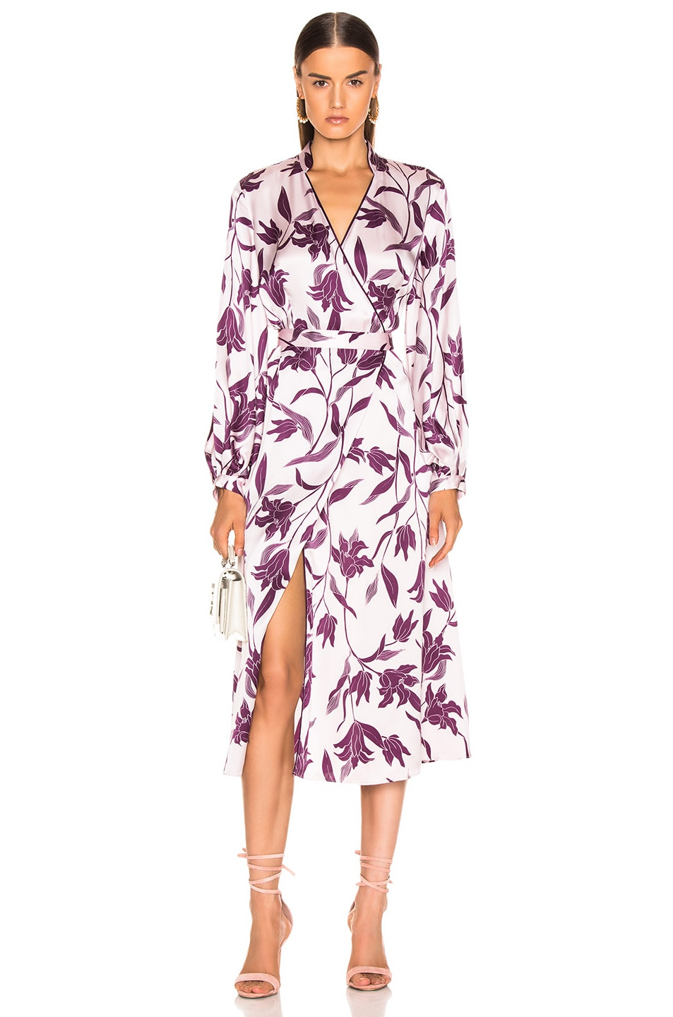 Image 1 of Equipment Andrese Dress in Purple Print