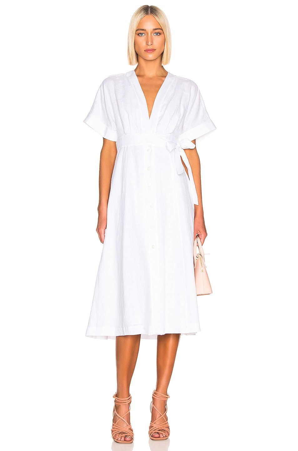 Image 1 of Equipment Nauman Dress in White