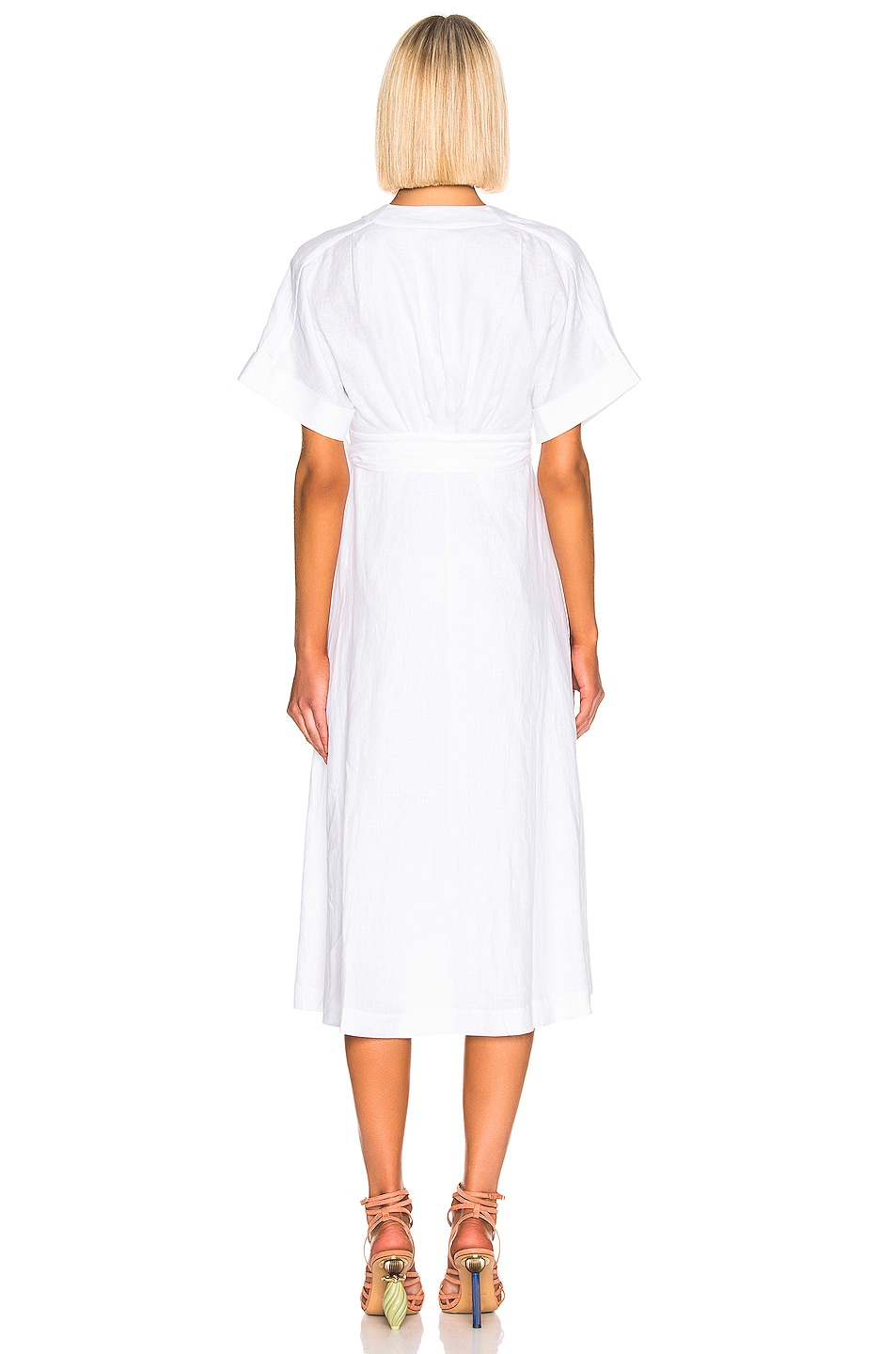 Image 3 of Equipment Nauman Dress in White