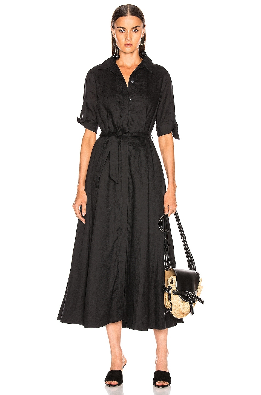 Image 1 of Equipment Irenne Midi Dress in True Black