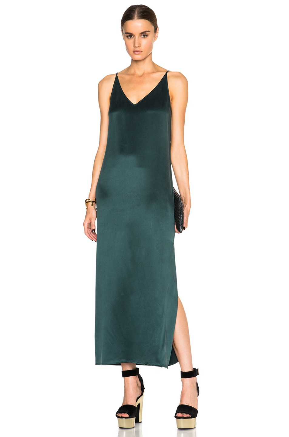 Image 1 of Equipment Racquel Slip Dress in Scarab