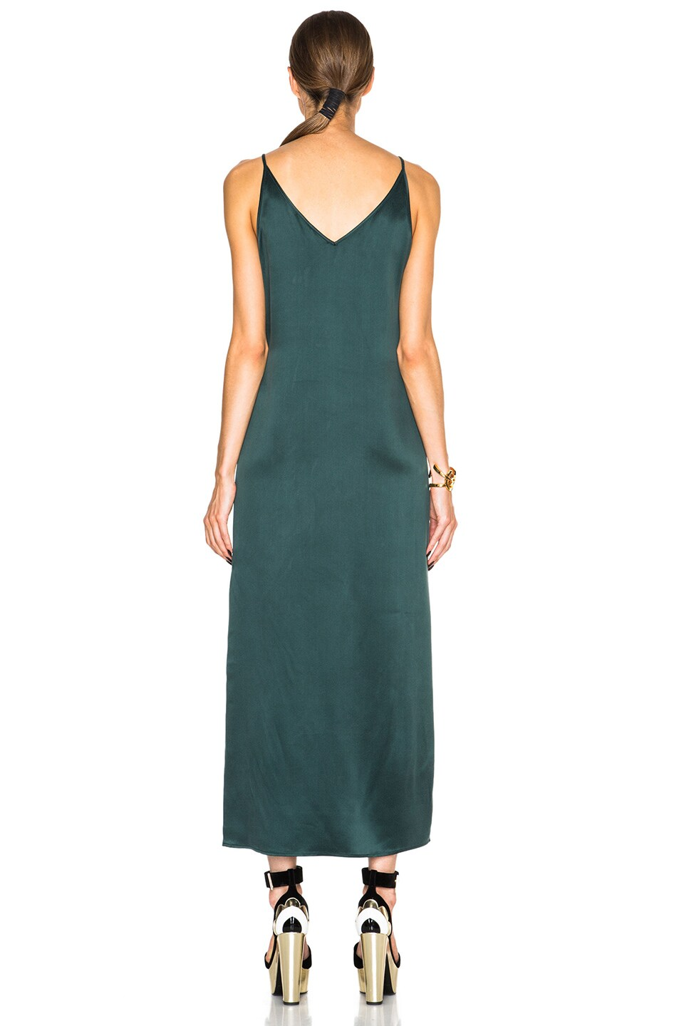 Image 4 of Equipment Racquel Slip Dress in Scarab