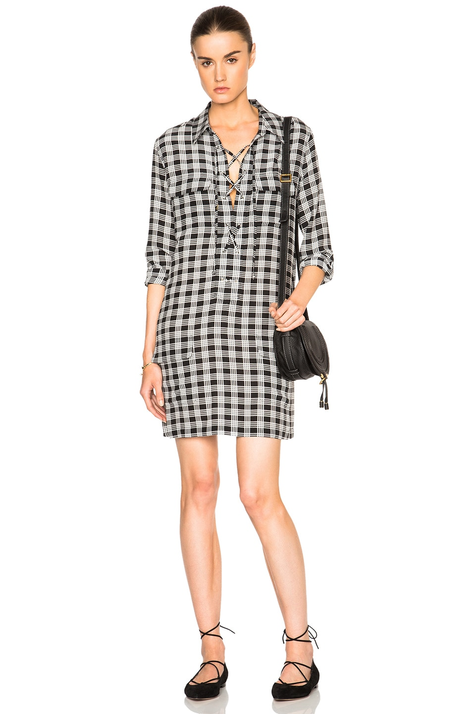 Image 1 of Equipment Knox Plaid Dress in True Black