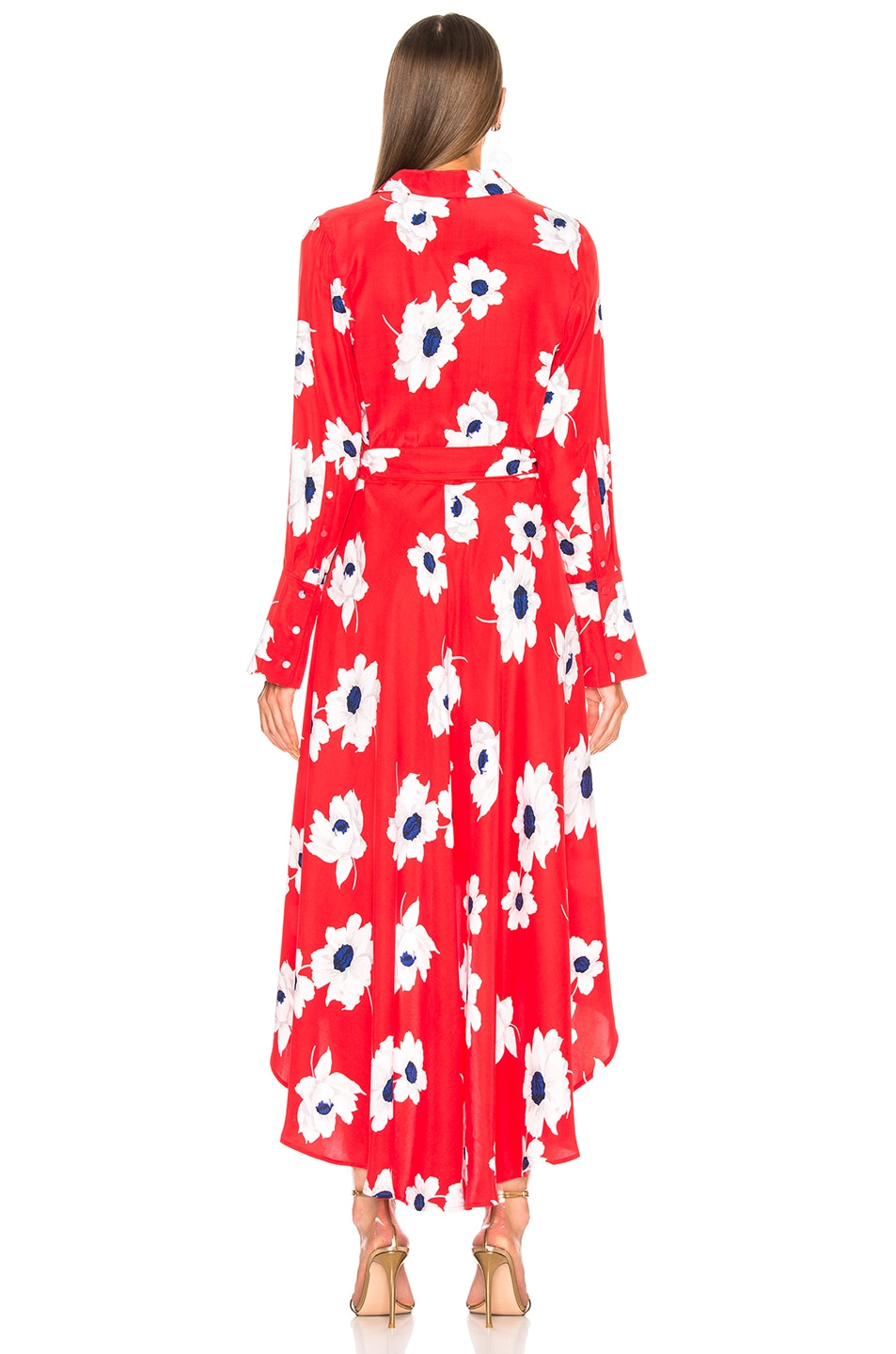 Image 3 of Equipment Gowin Dress in Blood Moon Multi