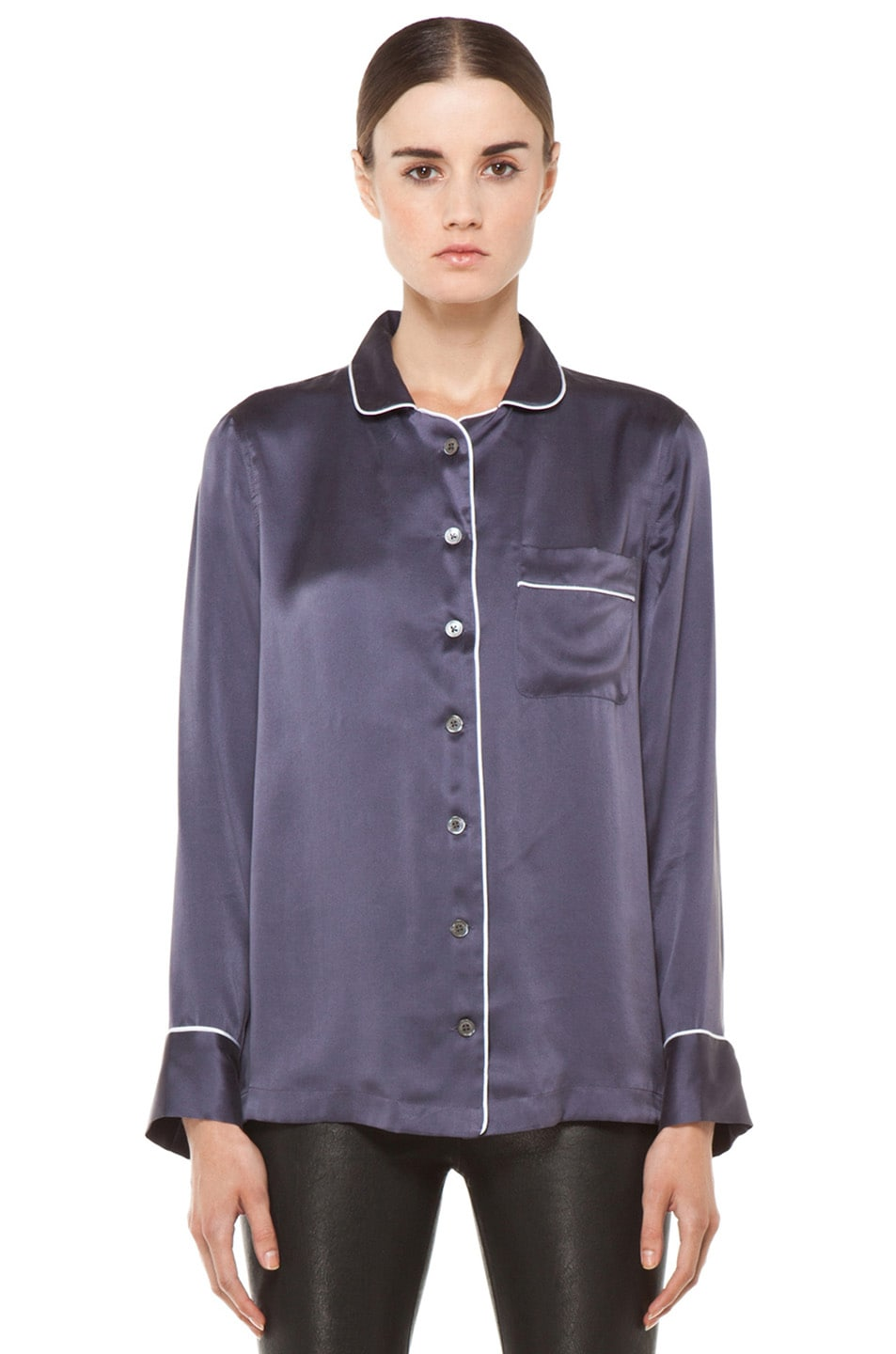 Image 1 of Equipment Avery Pajama Top in Greystone