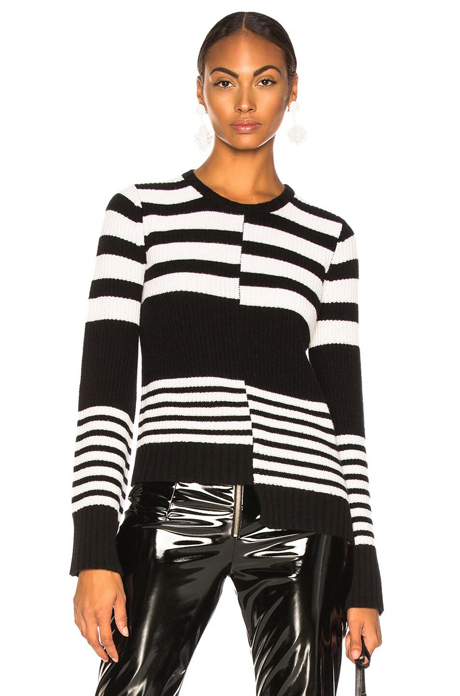 Image 1 of Equipment Elm Sweater in Ivory & Black