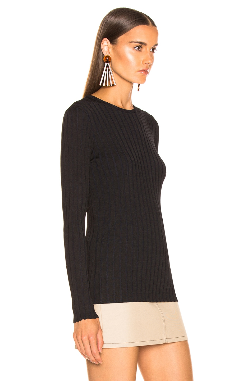 Image 2 of Equipment Saviny Sweater in Black Eclipse