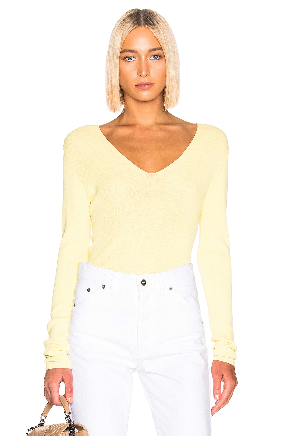 Image 1 of Equipment Myrian Sweater in Limon Sorbet