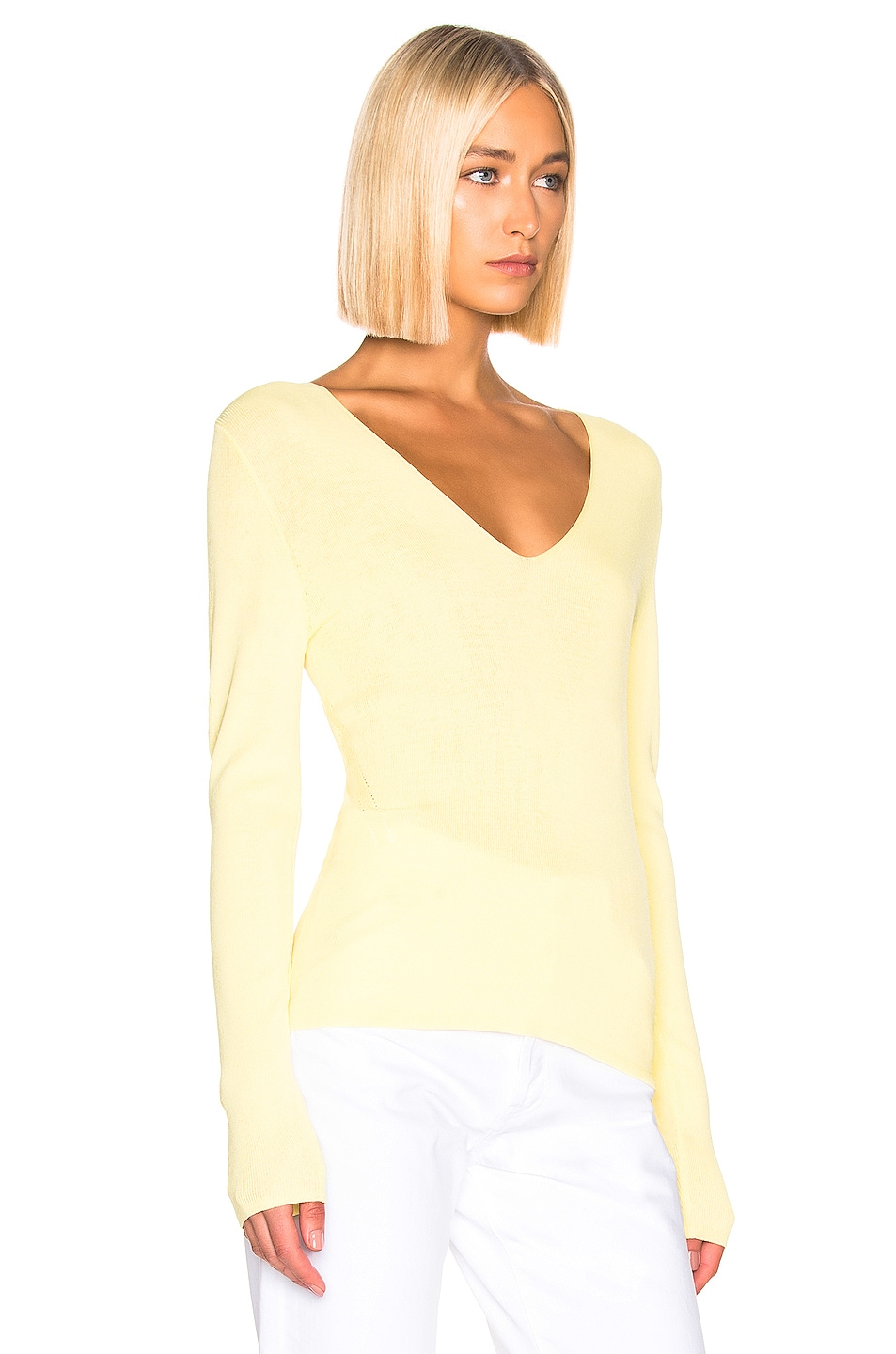Image 2 of Equipment Myrian Sweater in Limon Sorbet