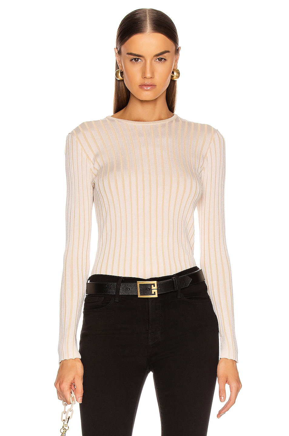 Image 1 of Equipment Saviny Sweater in Natural White & Beige