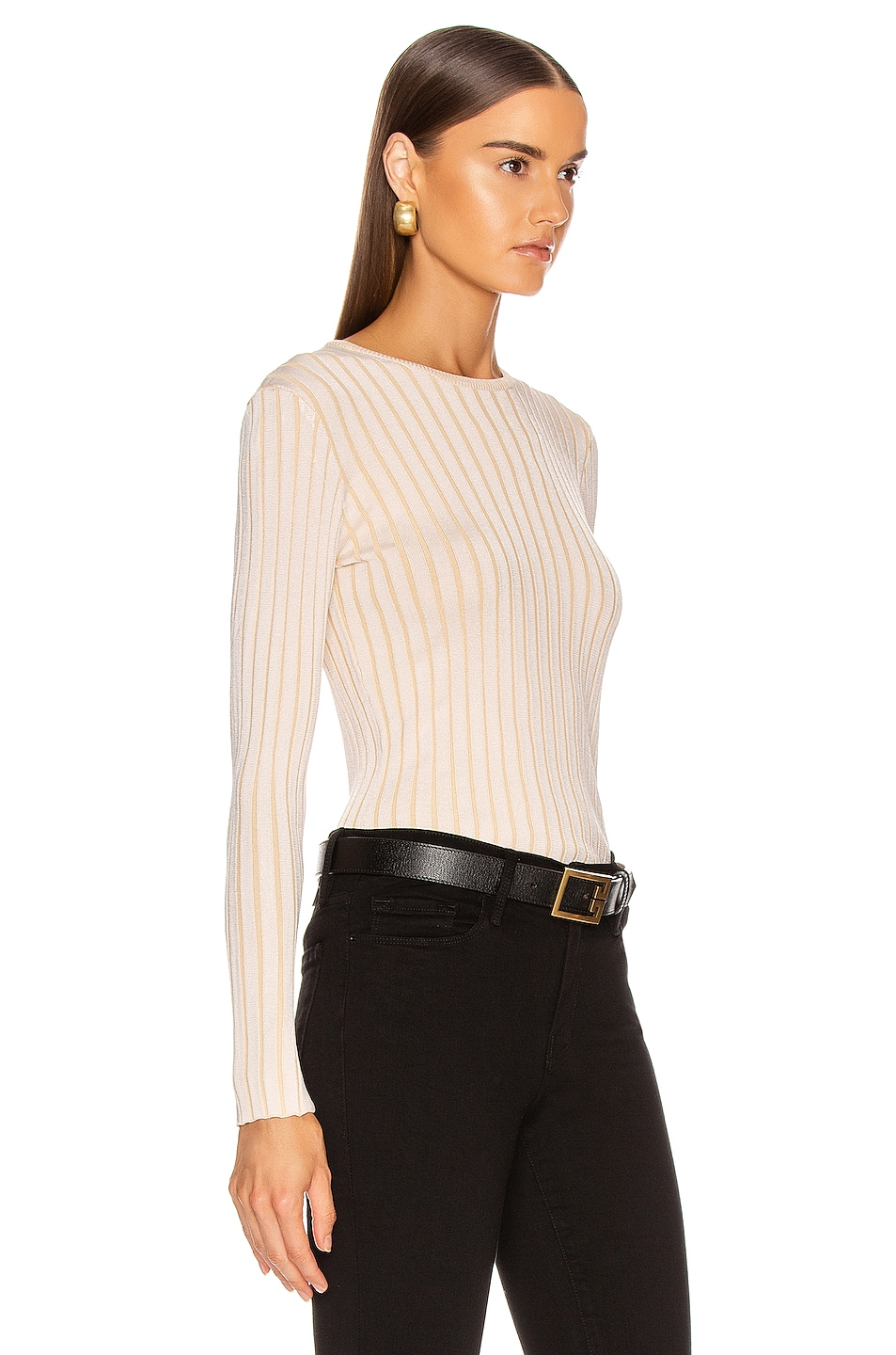 Image 2 of Equipment Saviny Sweater in Natural White & Beige