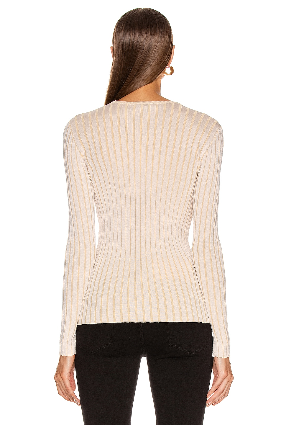 Image 3 of Equipment Saviny Sweater in Natural White & Beige