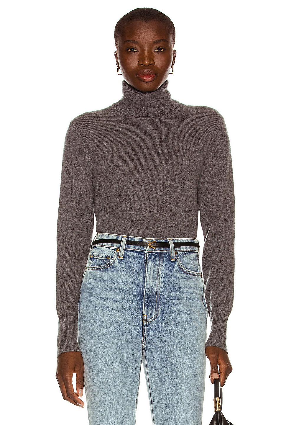 Image 1 of Equipment Delafine Turtleneck Sweater in Heather Grey