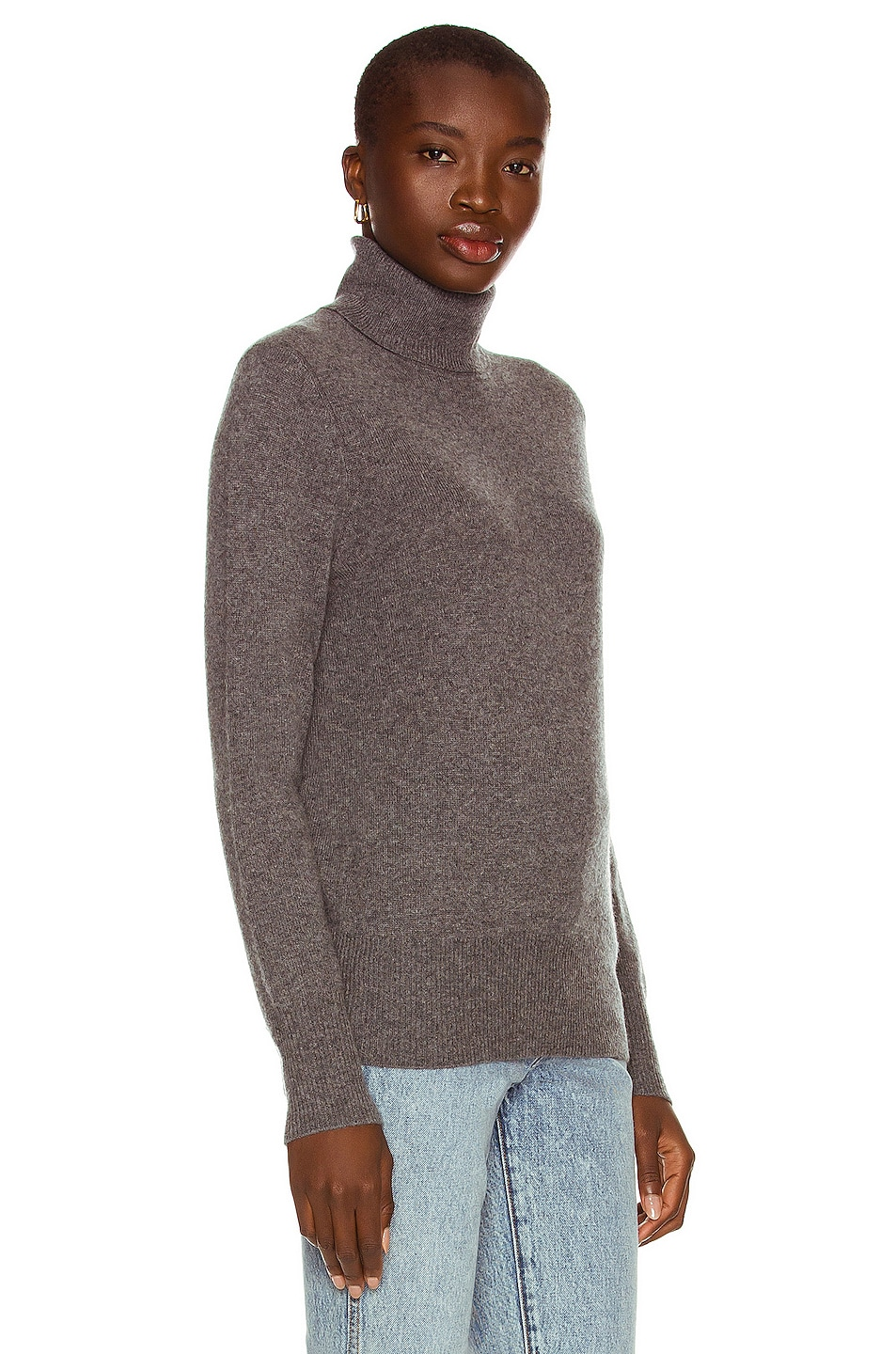 Image 2 of Equipment Delafine Turtleneck Sweater in Heather Grey