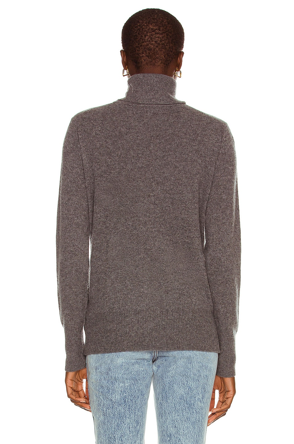 Image 3 of Equipment Delafine Turtleneck Sweater in Heather Grey