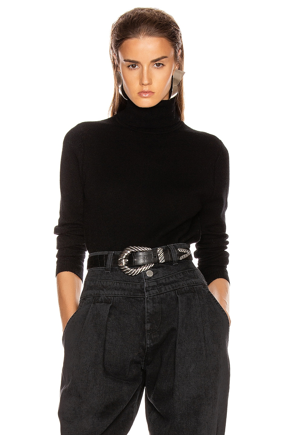 Image 1 of Equipment Delafine Turtleneck Sweater in True Black