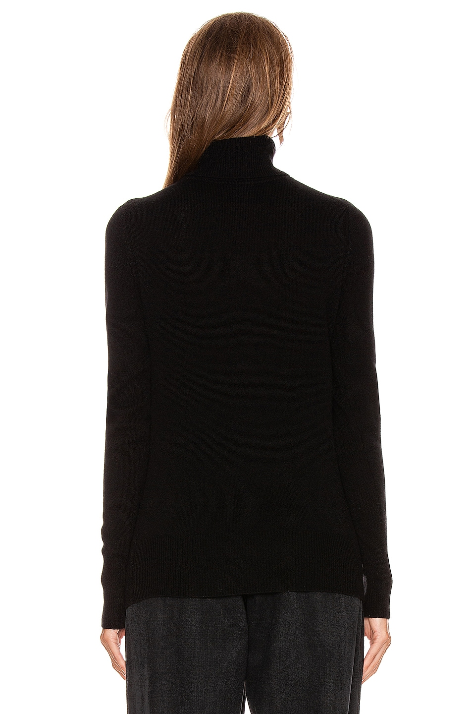 Image 3 of Equipment Delafine Turtleneck Sweater in True Black
