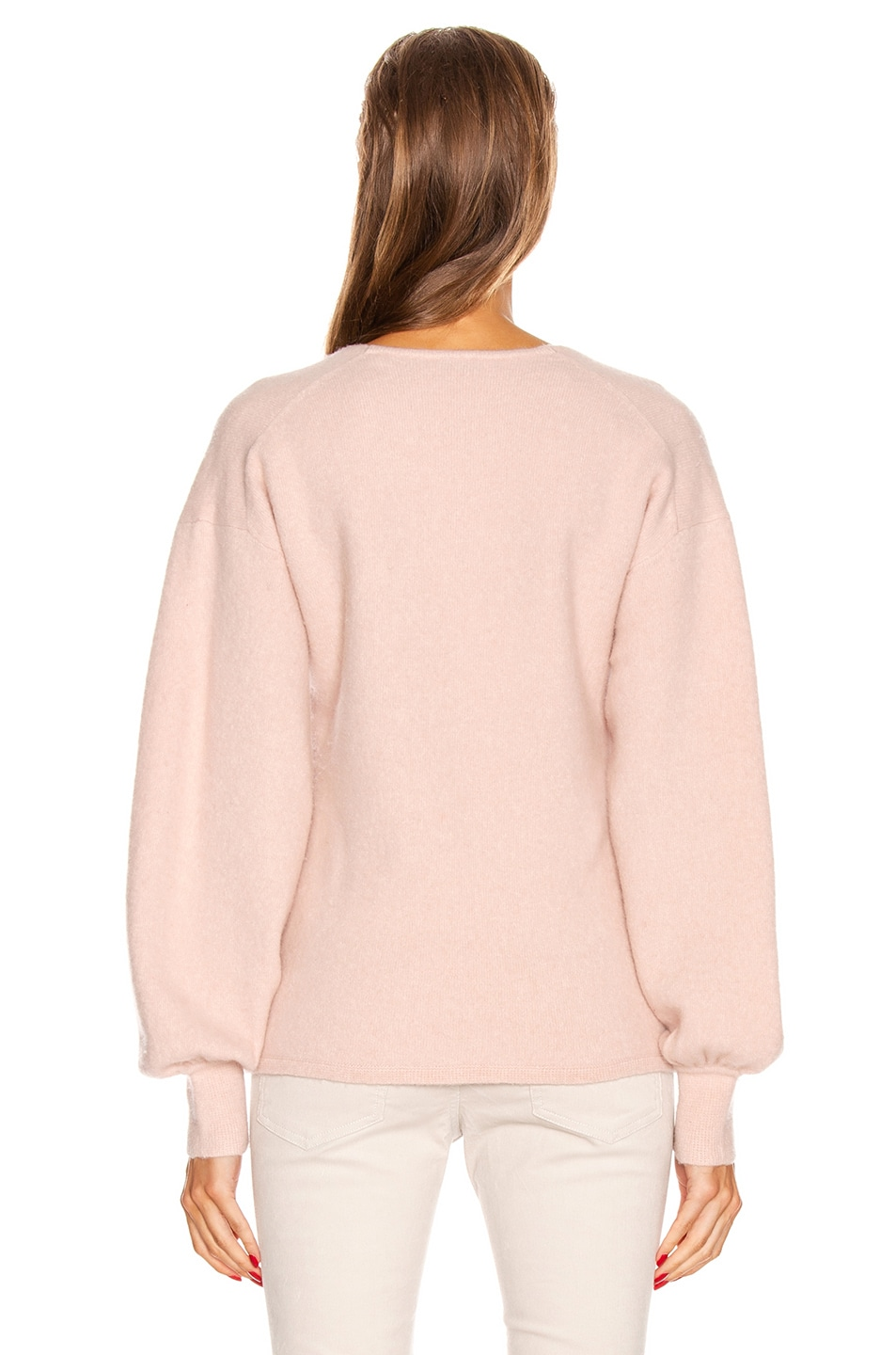 Image 3 of Equipment Liriene V Neck Sweater in Misty Rose