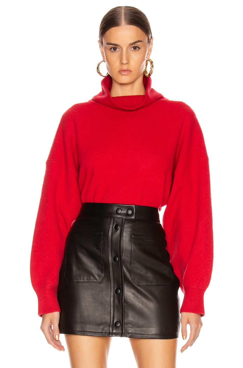 Image 1 of Equipment Aixenne Turtleneck Sweater in Rio Red