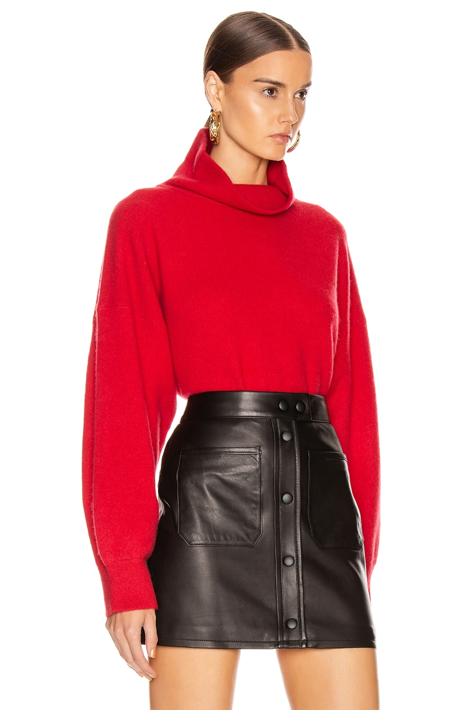 Image 2 of Equipment Aixenne Turtleneck Sweater in Rio Red